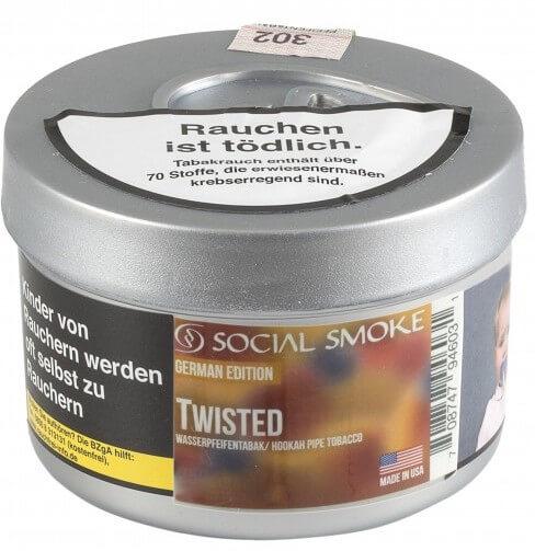 Social Smoke Tabak Twisted 100g Dose