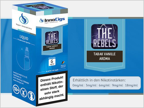 Innocigs Liquid - The Rebels Tabak Vanille Aroma - 0 mg/ml