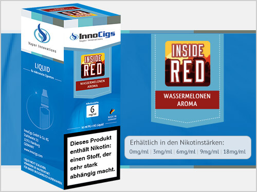 Innocigs Liquid - Inside Red Wassermelonen Aroma - 3 mg/ml