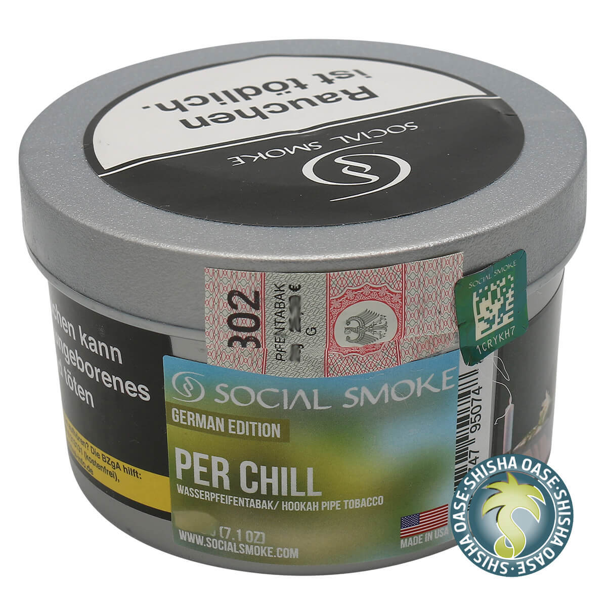 Social Smoke Tabak Per Chill 250g Dose