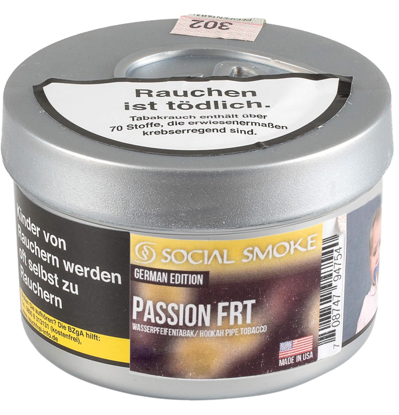 Social Smoke Tabak Passion FRT 250g Dose