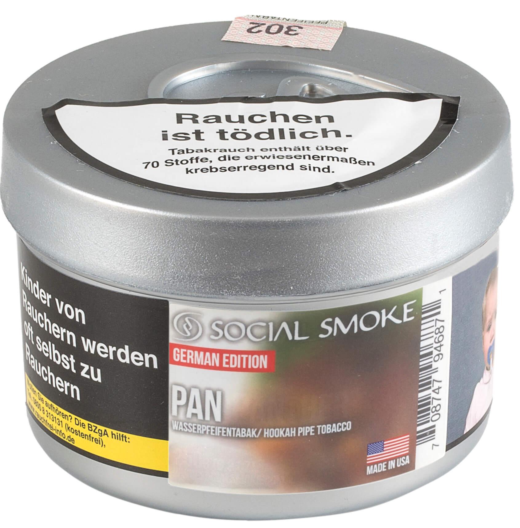 Social Smoke Tabak PAN 250g Dose