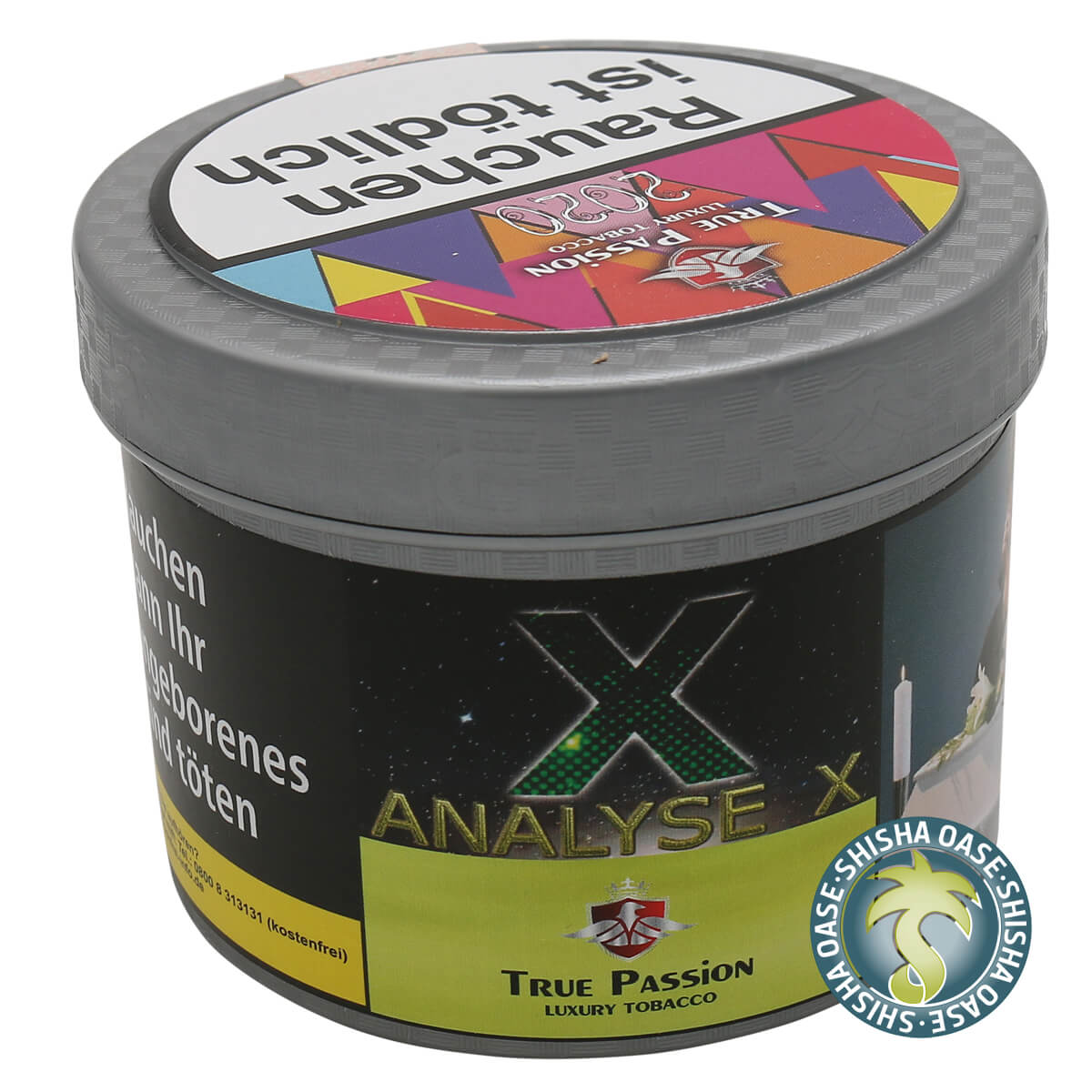 True Passion Tabak 200g Dose | Analyse X