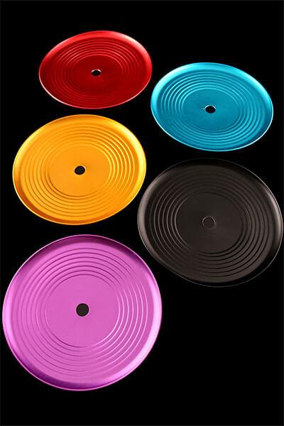 Groove Ascheteller eloxiert - Rot