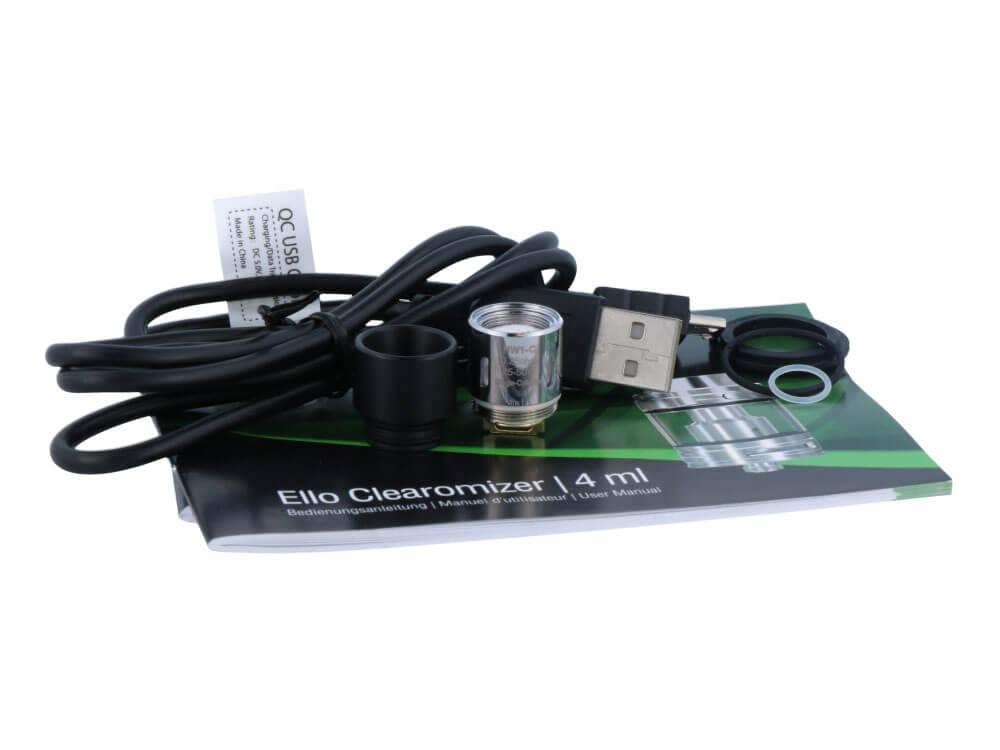 SC iStick Pico 21700 mit Ello E-Zigaretten Set grau
