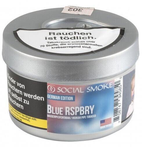 Social Smoke Tabak Blue Rspbry 250g Dose