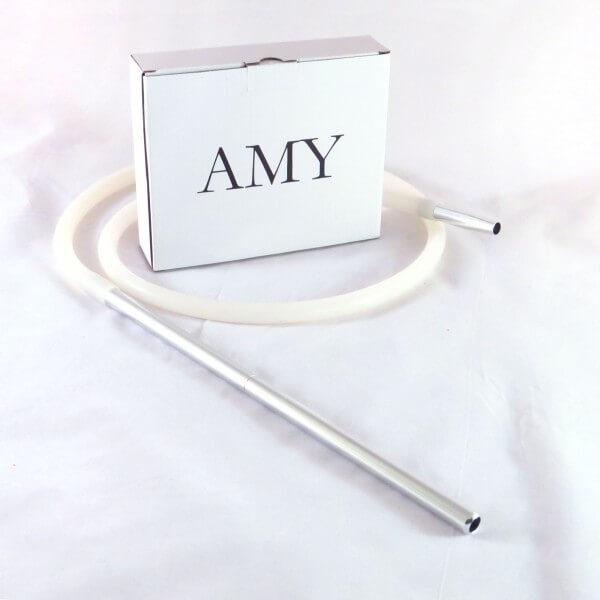 Amy Deluxe Schlauchset mit Alumundstück Weiß
