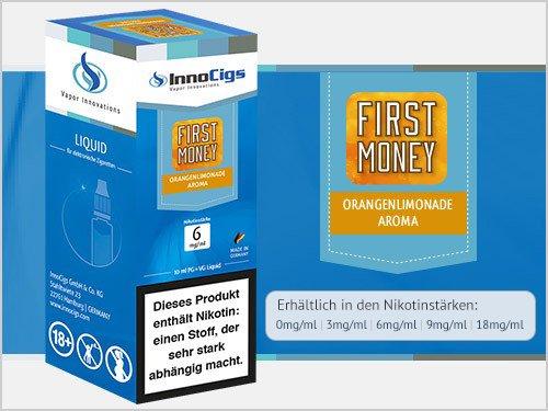 Innocigs Liquid - First Money Orangenlimonade Aroma - 6 mg