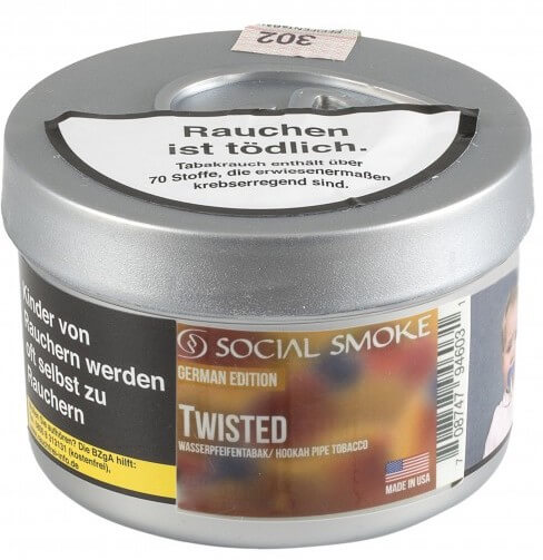 Social Smoke Tabak Twisted 250g Dose