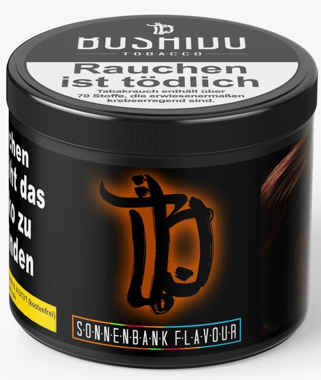 Bushido Tabak 200g Sonnenbank Flavour