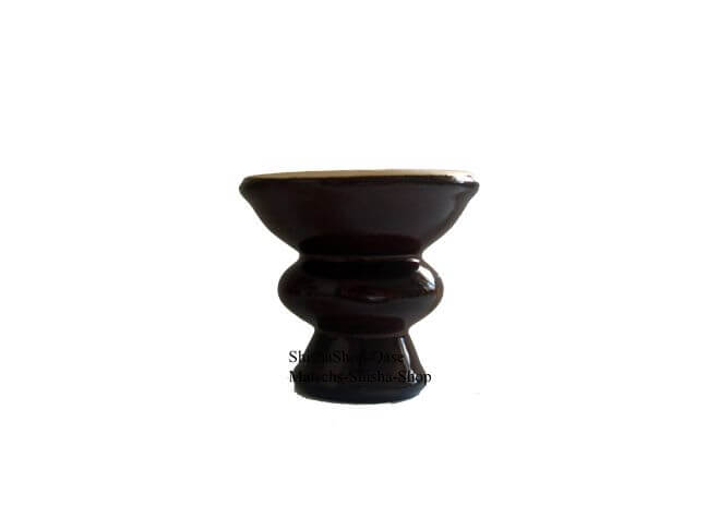 Nibo China Head Tabakkopf glasiert groß 7cm - Braun