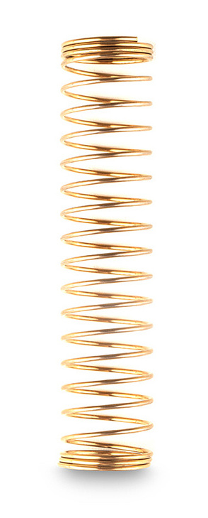 Shisha Schlauchfeder für Silikonschlauch Gold