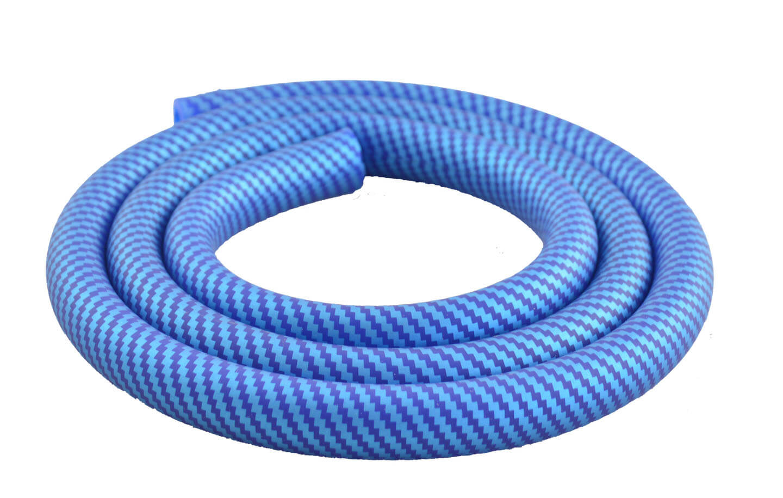 Silikonschlauch Soft Touch Carbonoptik (Blau)