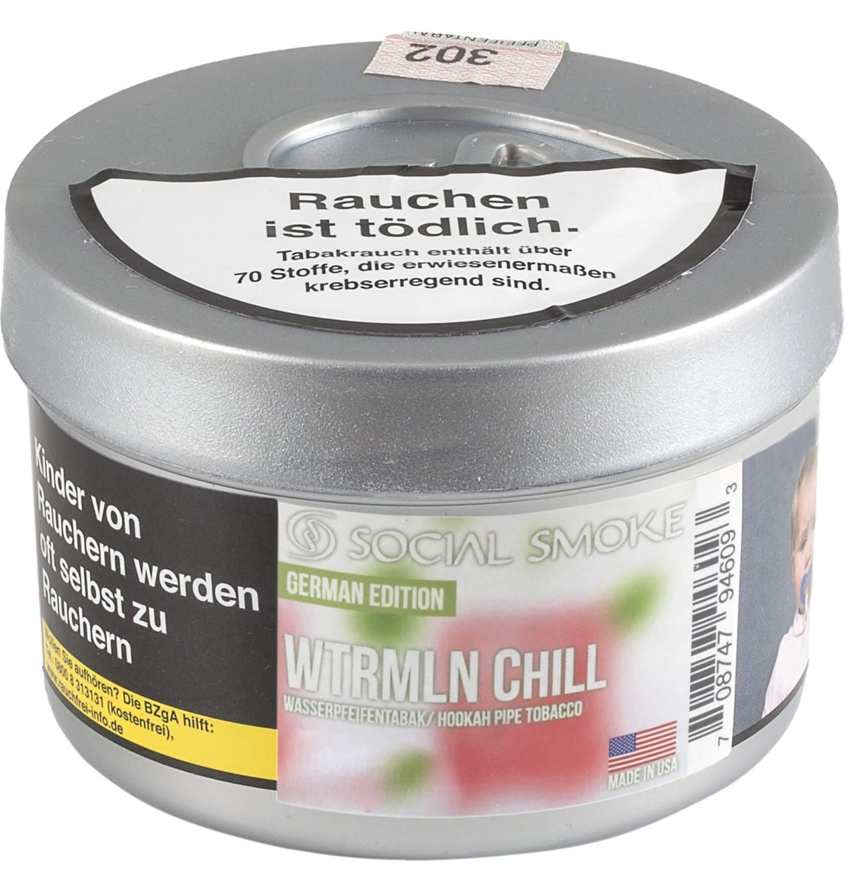 Social Smoke Tabak Wtrmln Chill 250g Dose