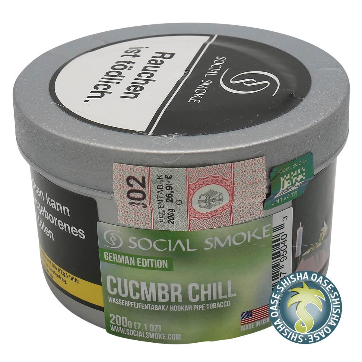 Social Smoke Tabak Cucmbr Chill 200g Dose