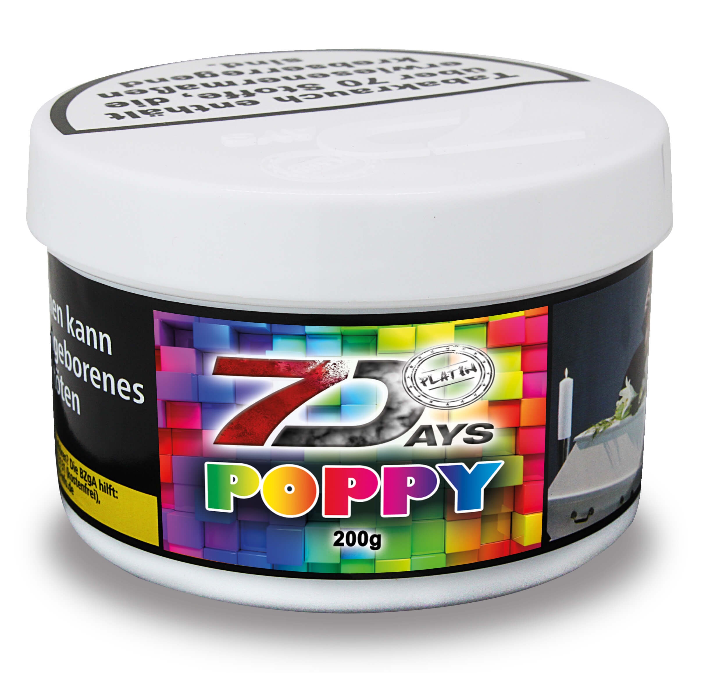 7 Days Platin Tabak - Poppy 200g