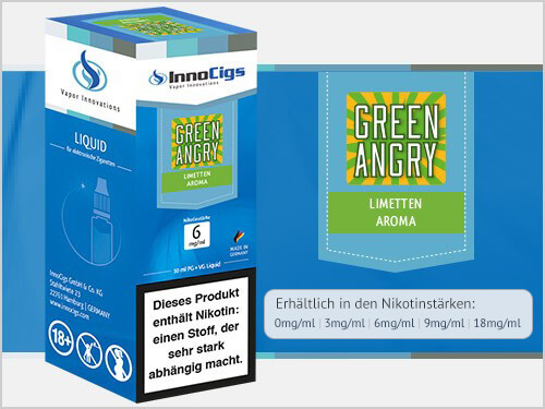 Innocigs Liquid - Green Angry Limetten Aroma - 0 mg/ml