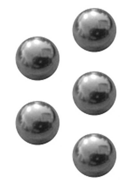 Ventilkugel 10mm Durchmesser | Metall | 5er Set