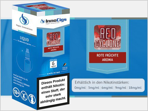 Innocigs Liquid - Red Cyclone Rote Früchte Aroma - 9 mg/ml
