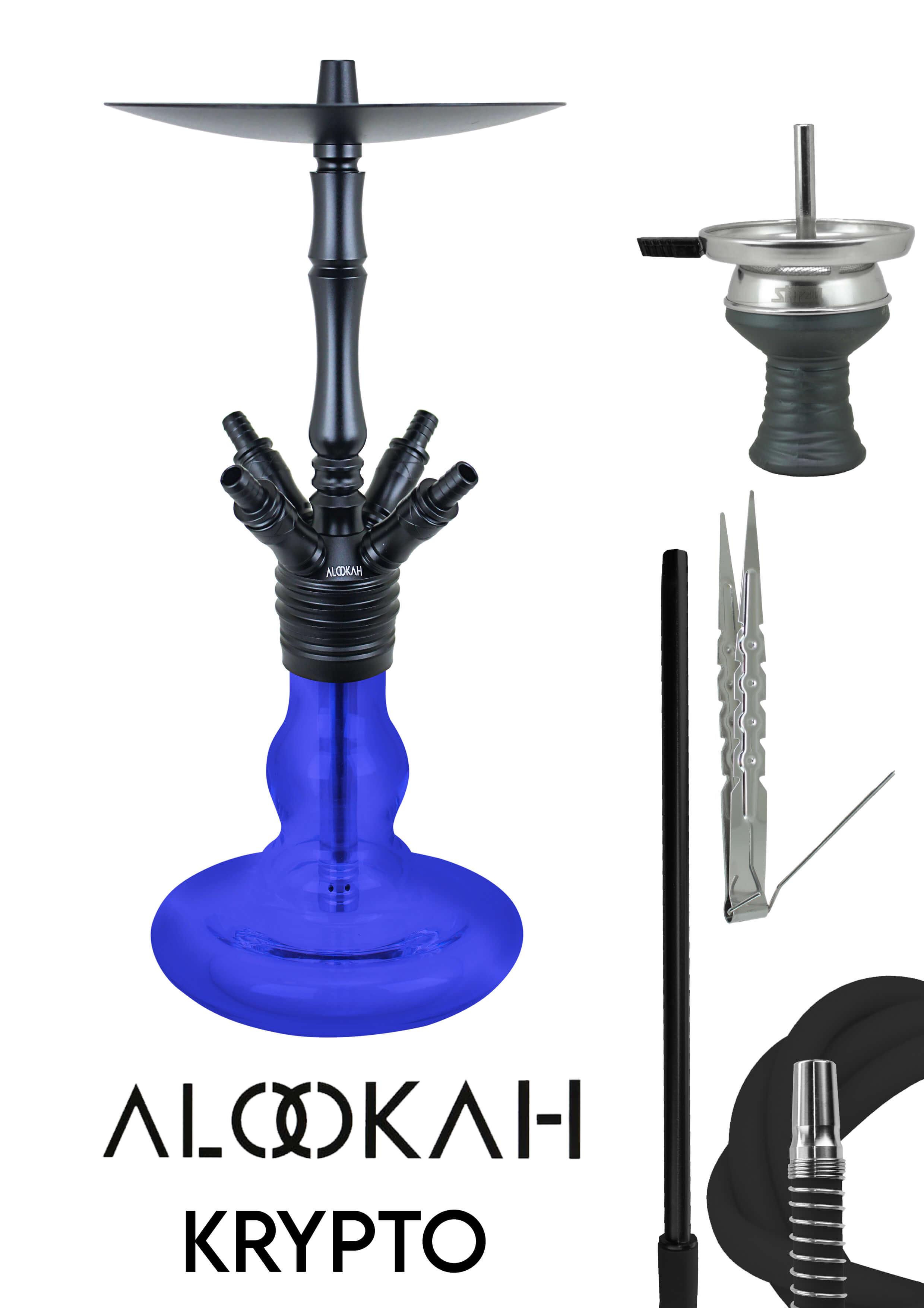 Alookah Shisha Krypto Blau