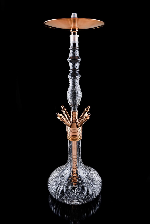 Dschinni Shisha - Baba Crystal Kupfer Rot - Baba Serie