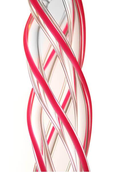 Curly Glasmundstück Coil - Pink