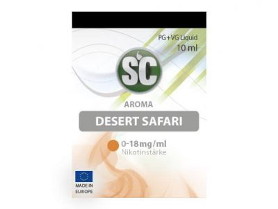 Desert Safari Tabak Liquid (10ml) 0 mg/ml